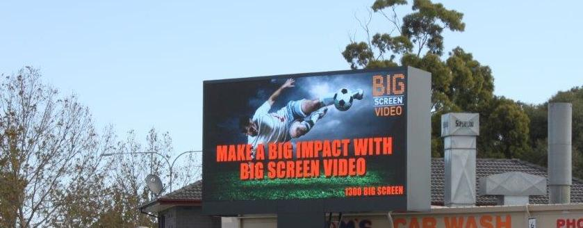 Image of Big Font Media digital outdoor billboard on Sir Donald Bradman Drive, Adelaide to airport arterial road
