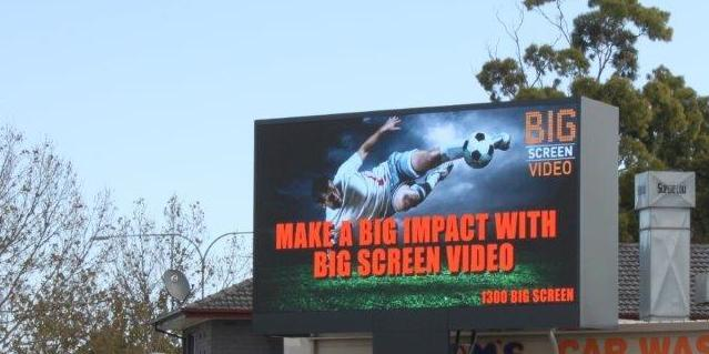 Image of an ad that says 'make a big screen impact'