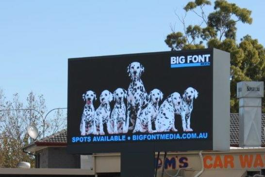 Image of Big Font Media's digital billboard, crn Marion Street and Sir Donald Bradman Drive, Adelaide
